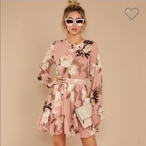 floral ruffle dress Size: S for women